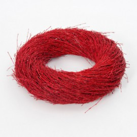 WREATH BAMBOO DIAM. 60CM RED - I/C  5/5